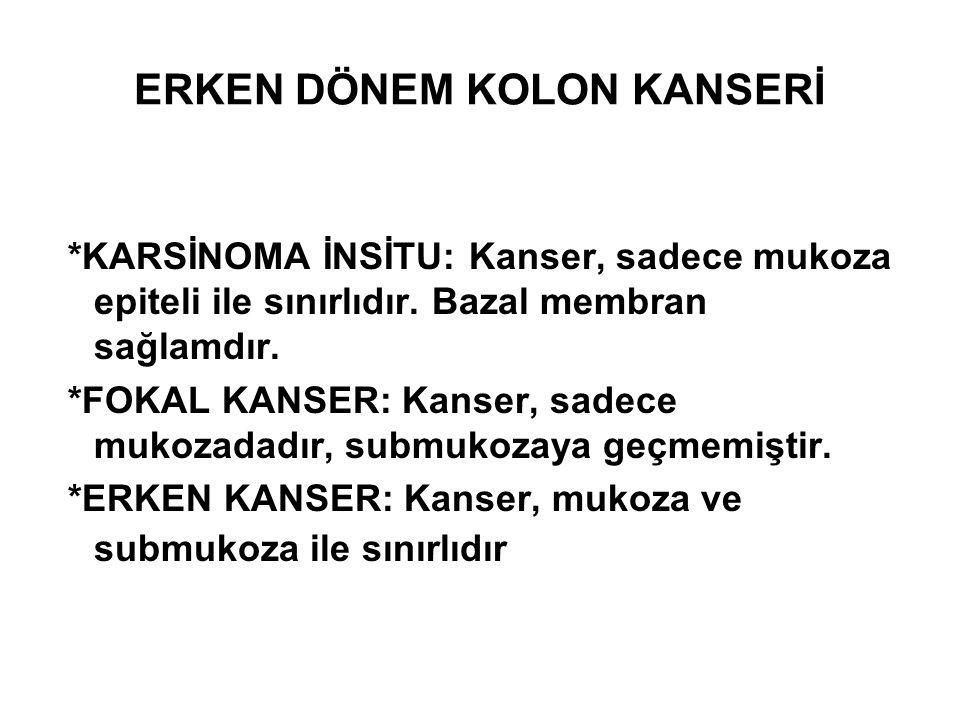 ERKEN DÖNEM KOLON KANSERİ