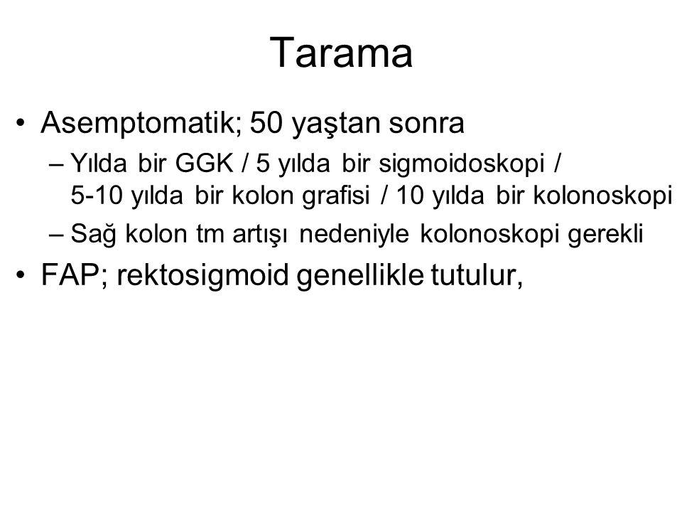 Tarama Asemptomatik; 50 yaştan sonra