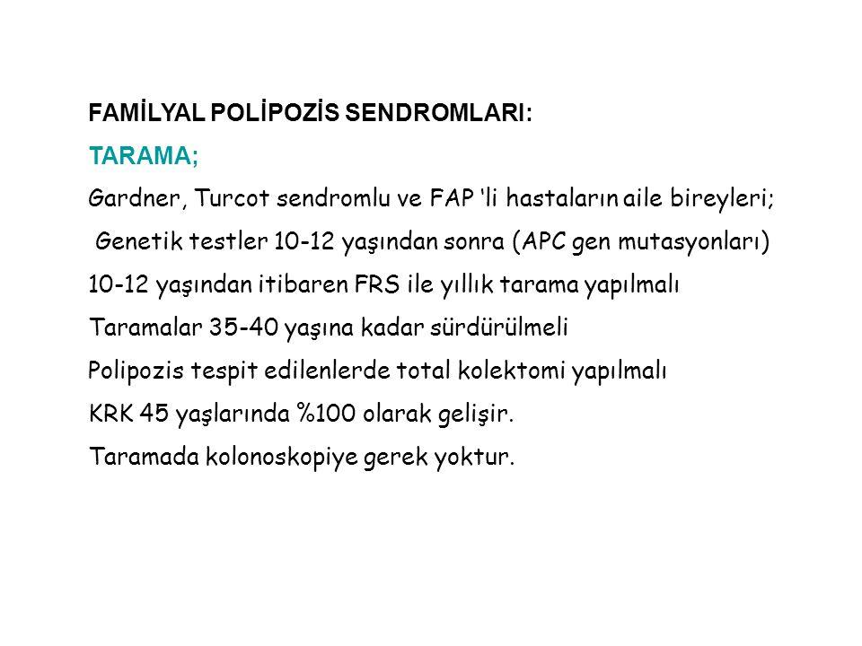 FAMİLYAL POLİPOZİS SENDROMLARI: