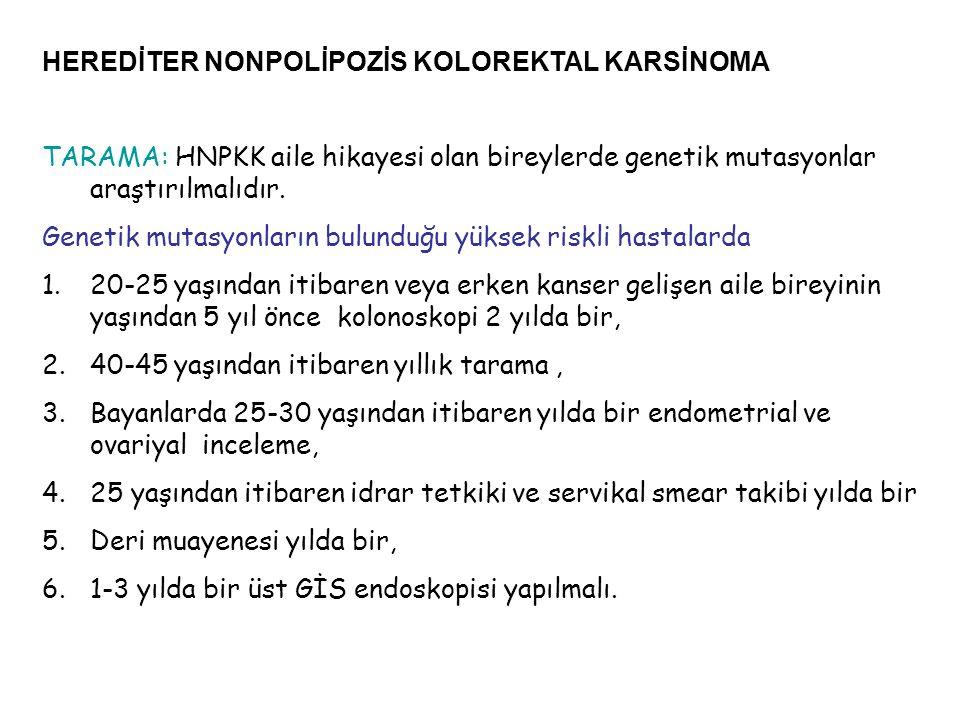 HEREDİTER NONPOLİPOZİS KOLOREKTAL KARSİNOMA