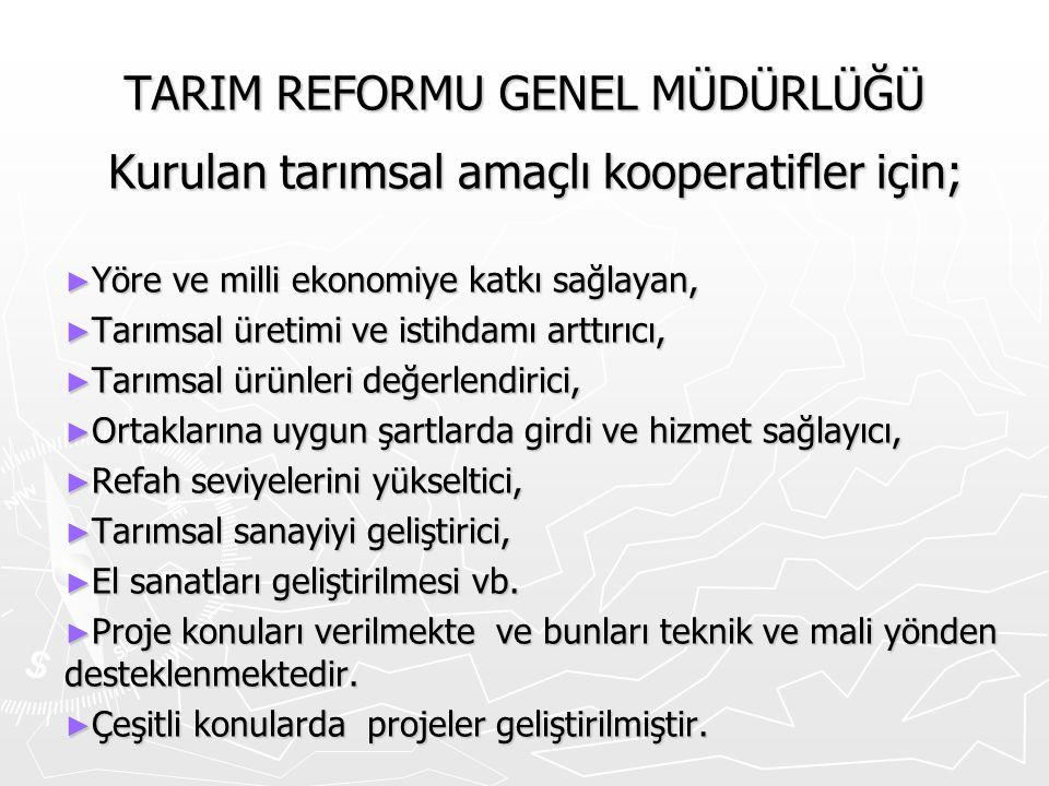 TARIM REFORMU GENEL MÜDÜRLÜĞÜ