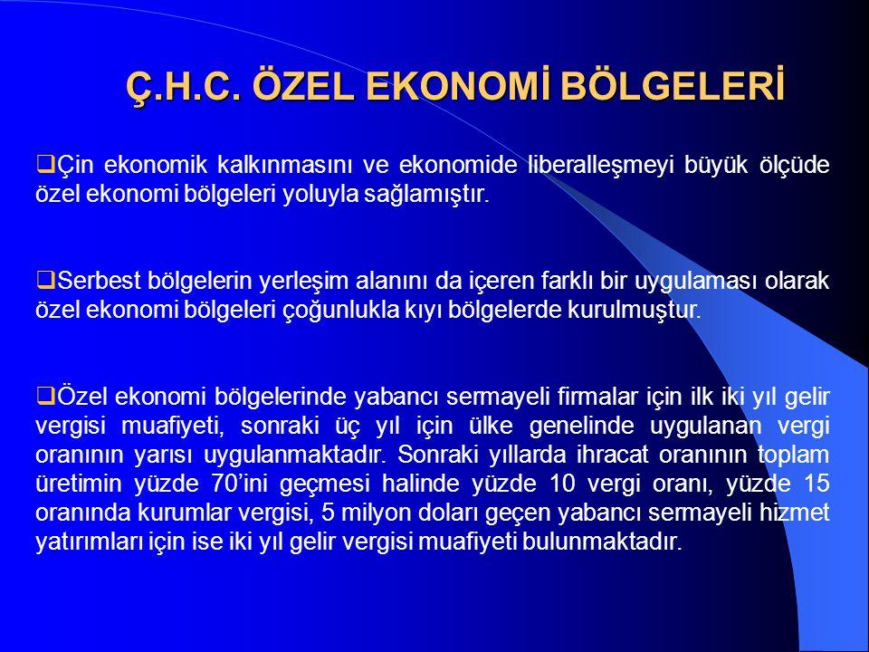 Ç.H.C. ÖZEL EKONOMİ BÖLGELERİ