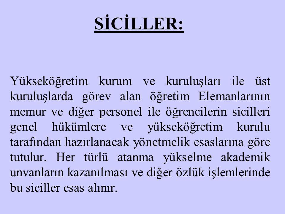 SİCİLLER: