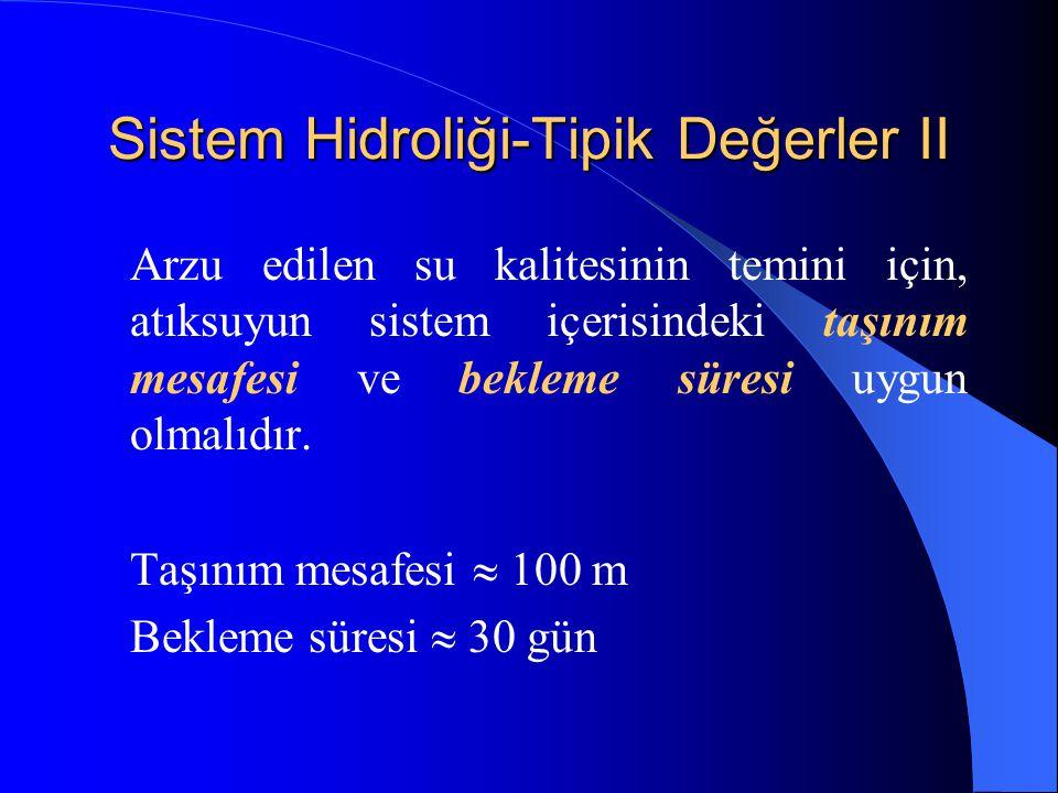 Sistem Hidroliği-Tipik Değerler II