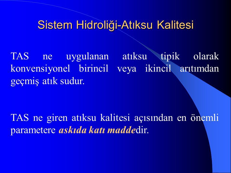 Sistem Hidroliği-Atıksu Kalitesi