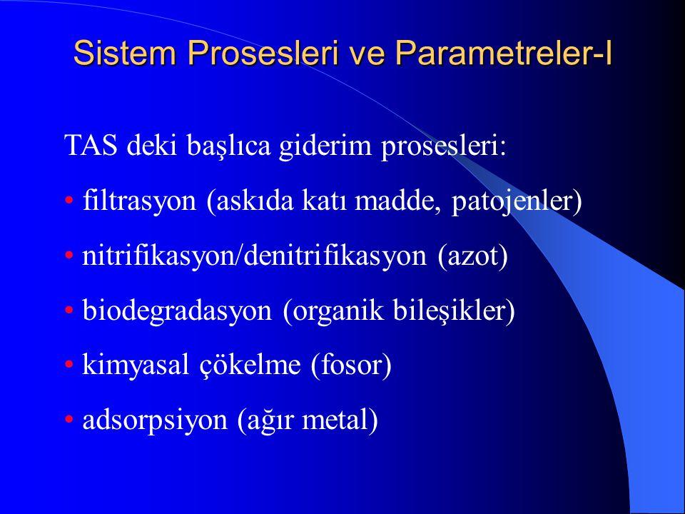 Sistem Prosesleri ve Parametreler-I