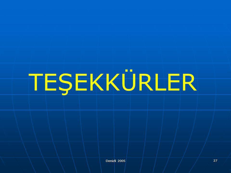 TEŞEKKÜRLER Denizli 2005