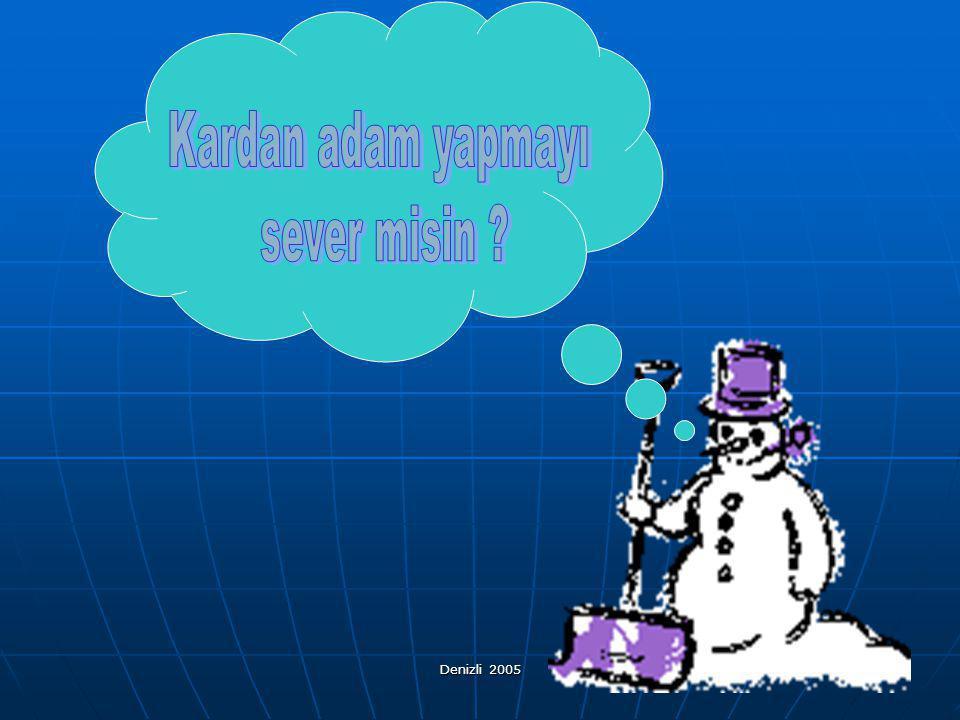 Kardan adam yapmayı sever misin Denizli 2005