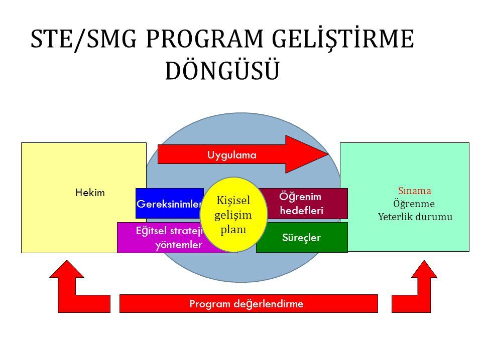 STE/SMG PROGRAM GELİŞTİRME DÖNGÜSÜ
