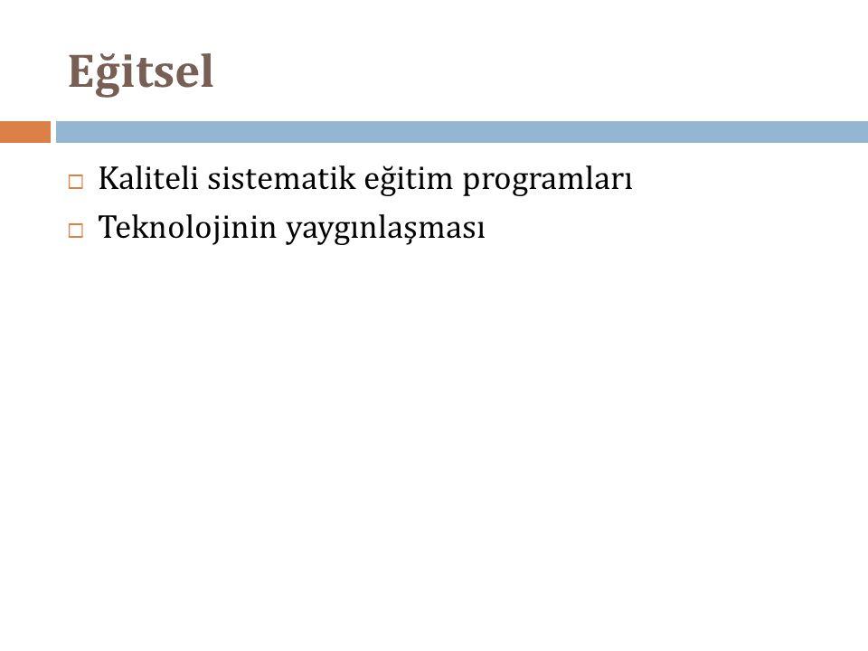 Eğitsel Kaliteli sistematik eğitim programları