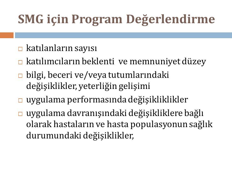 SMG için Program Değerlendirme