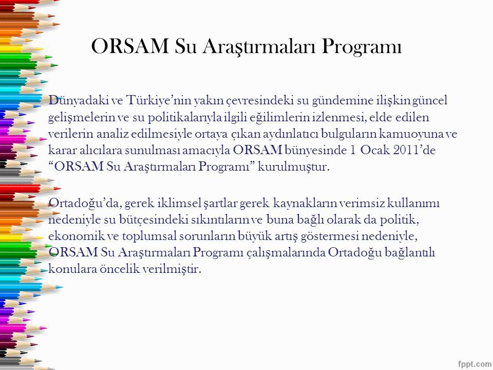 ORSAM Su Araştırmaları Programı