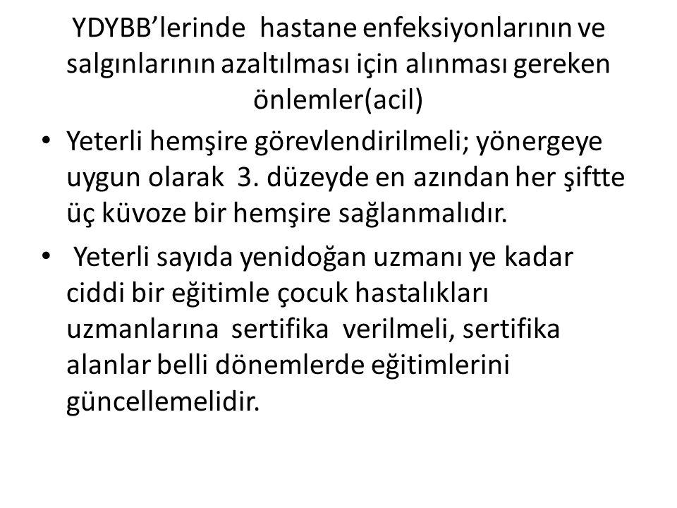 YDYBB'lerinde hastane enfeksiyonlarının ve salgınlarının azaltılması için alınması gereken önlemler(acil)