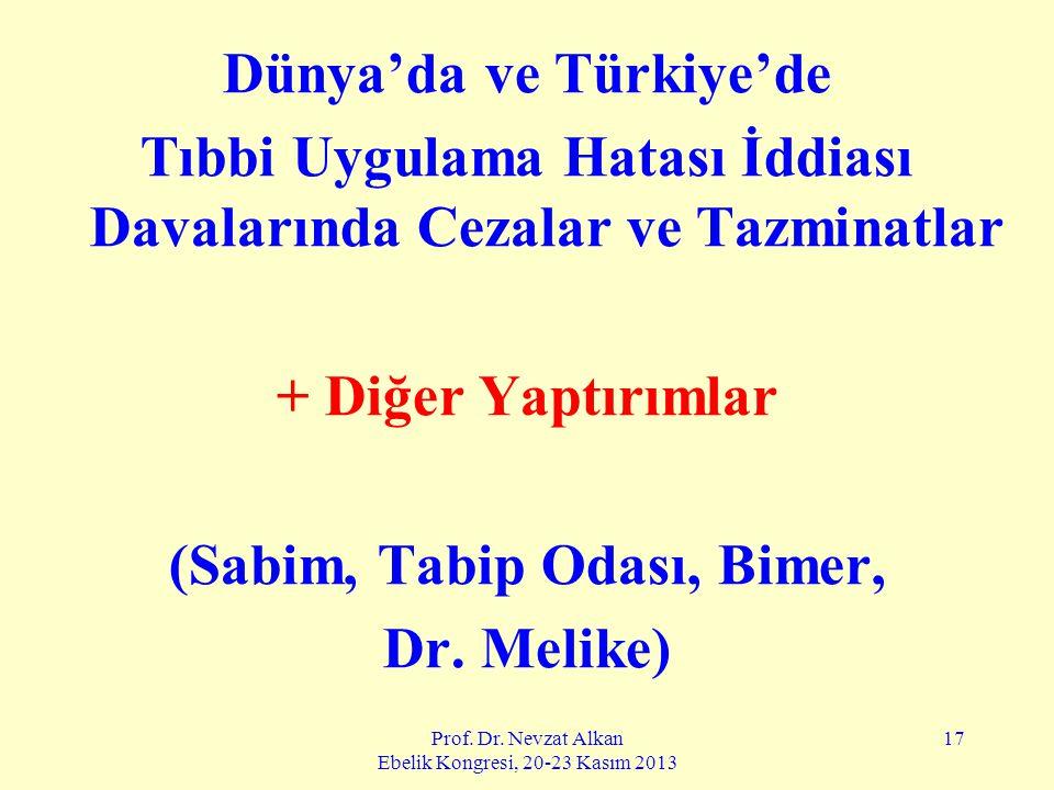 Dünya'da ve Türkiye'de