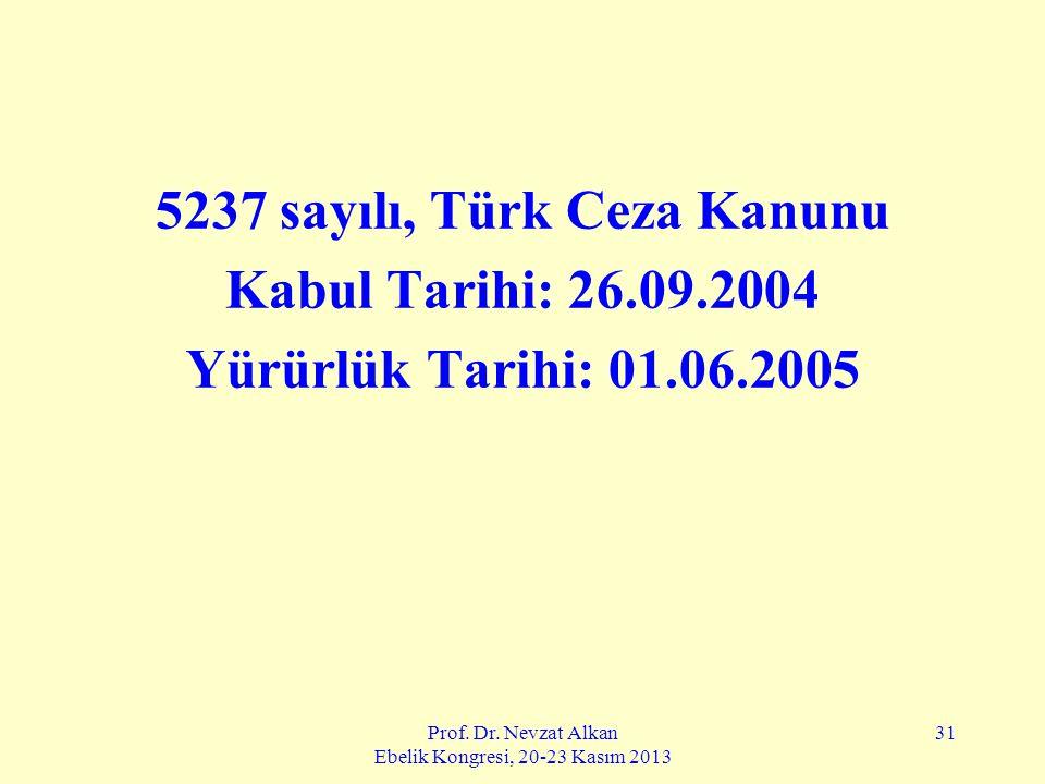 5237 sayılı, Türk Ceza Kanunu