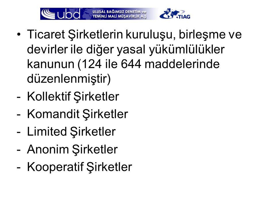 Ticaret Şirketlerin kuruluşu, birleşme ve devirler ile diğer yasal yükümlülükler kanunun (124 ile 644 maddelerinde düzenlenmiştir)