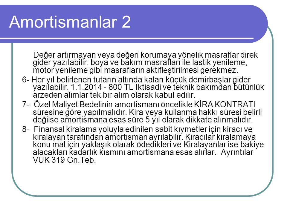 Amortismanlar 2