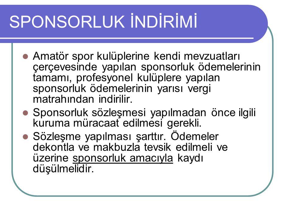 SPONSORLUK İNDİRİMİ