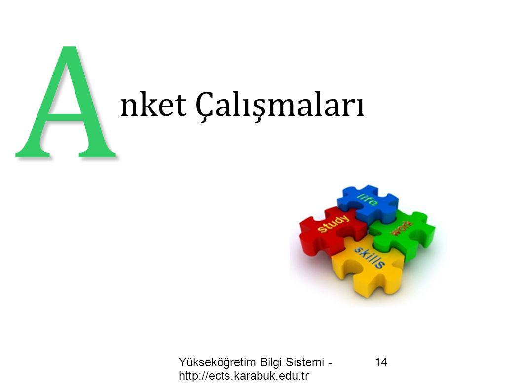 A nket Çalışmaları Yükseköğretim Bilgi Sistemi - http://ects.karabuk.edu.tr