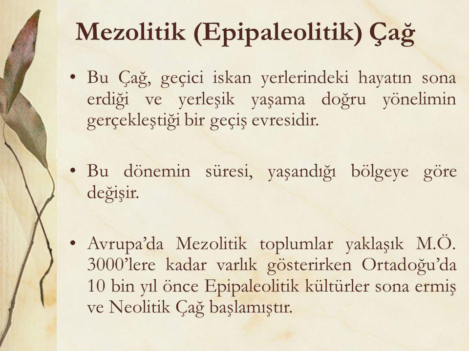 Mezolitik (Epipaleolitik) Çağ