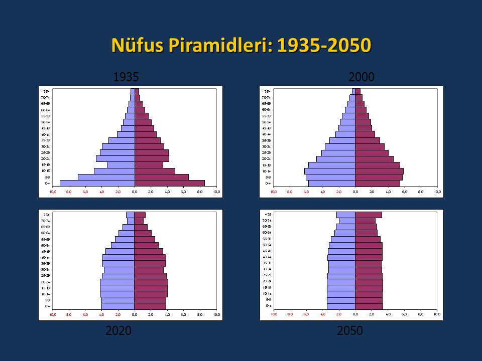 Nüfus Piramidleri: 1935-2050 1935 2000 2020 2050