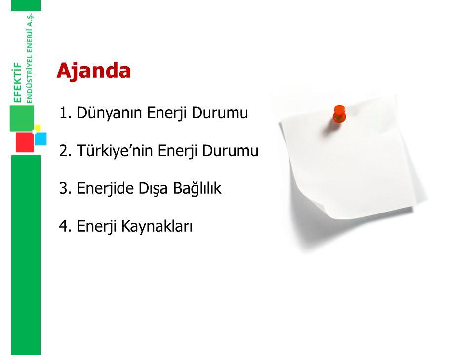 Ajanda Dünyanın Enerji Durumu Türkiye'nin Enerji Durumu