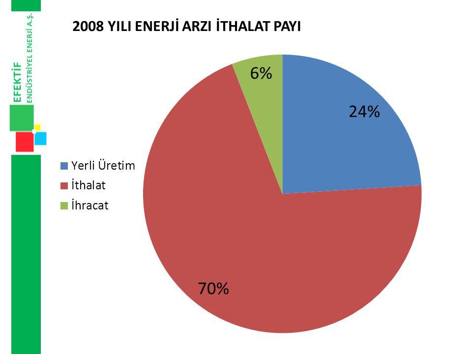 enerjinin toplam ithalattaki payı yüzde 22,5 'tur