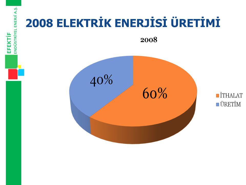 2008 ELEKTRİK ENERJİSİ ÜRETİMİ