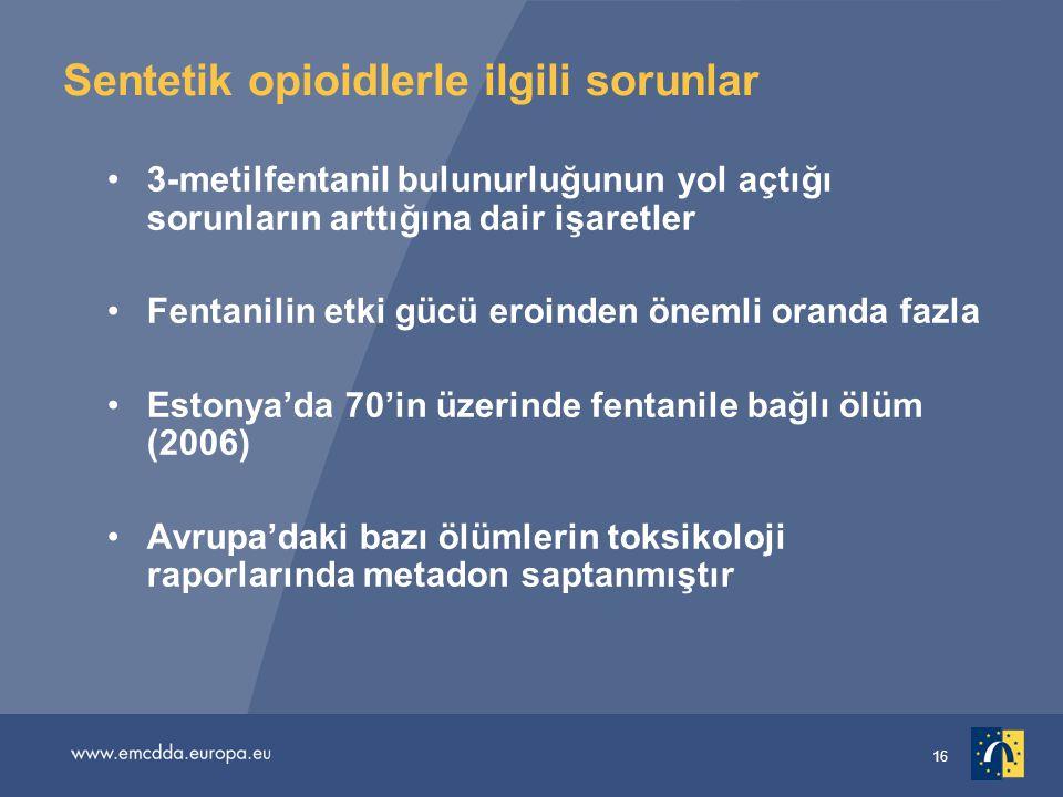 Sentetik opioidlerle ilgili sorunlar
