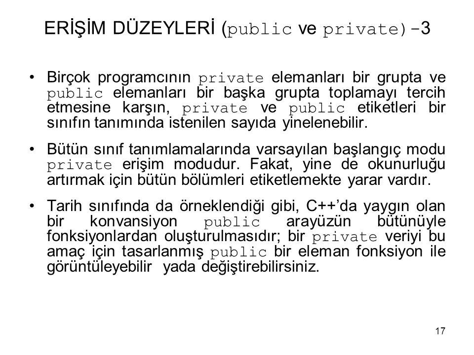 ERİŞİM DÜZEYLERİ (public ve private)-3