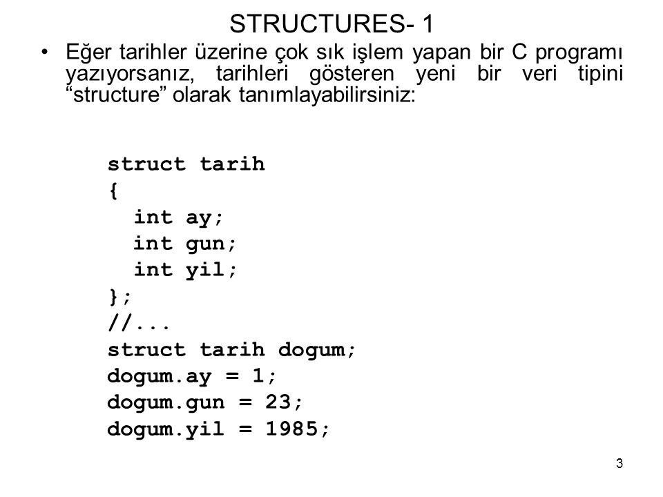 STRUCTURES- 1