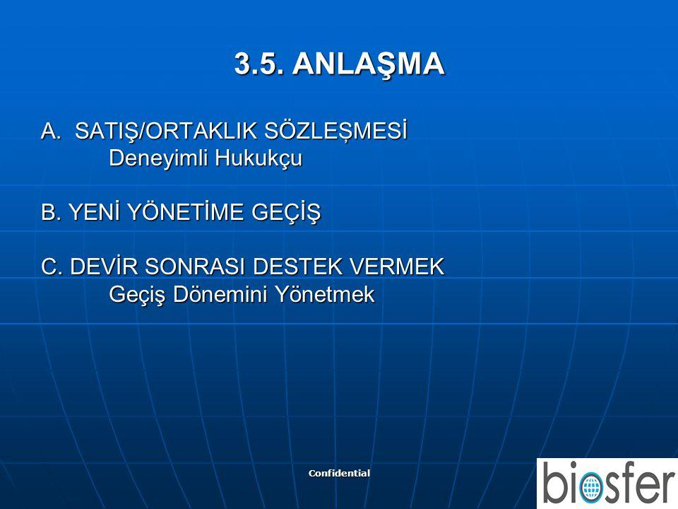 3.5. ANLAŞMA A. SATIŞ/ORTAKLIK SÖZLEŞMESİ Deneyimli Hukukçu