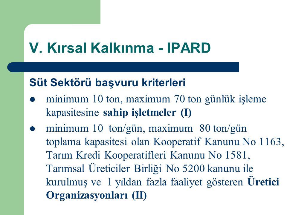 V. Kırsal Kalkınma - IPARD