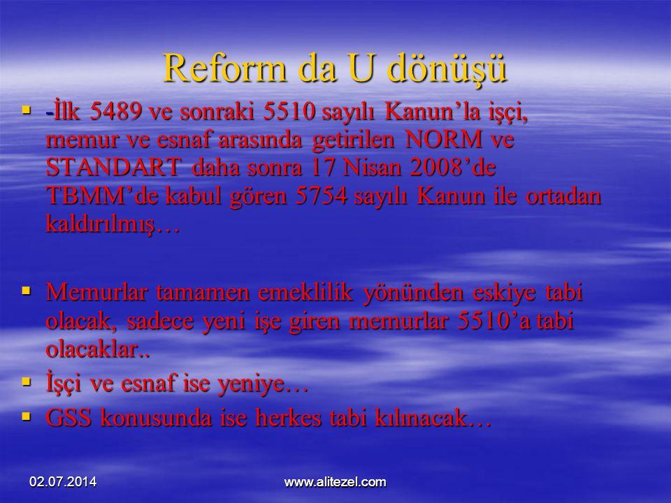 Reform da U dönüşü