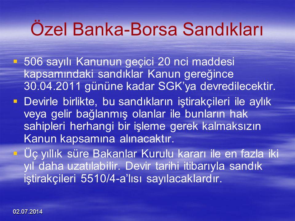 Özel Banka-Borsa Sandıkları