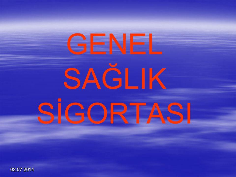 GENEL SAĞLIK SİGORTASI 03.04.2017