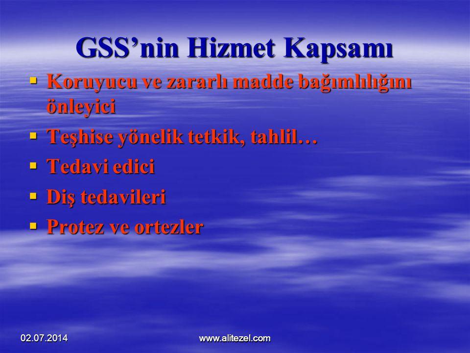 GSS'nin Hizmet Kapsamı