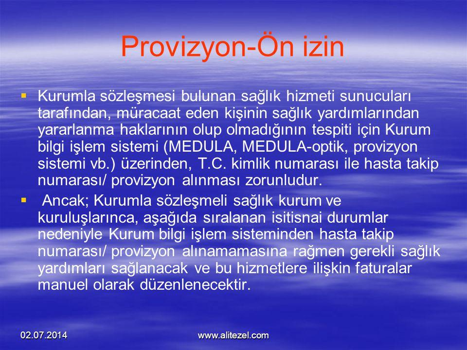 Provizyon-Ön izin
