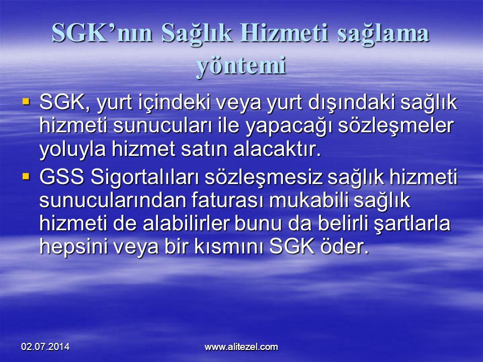 SGK'nın Sağlık Hizmeti sağlama yöntemi