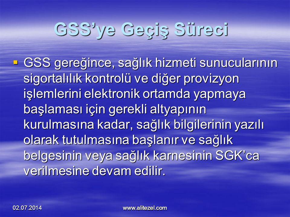 alitezel@alitezel.com GSS'ye Geçiş Süreci.