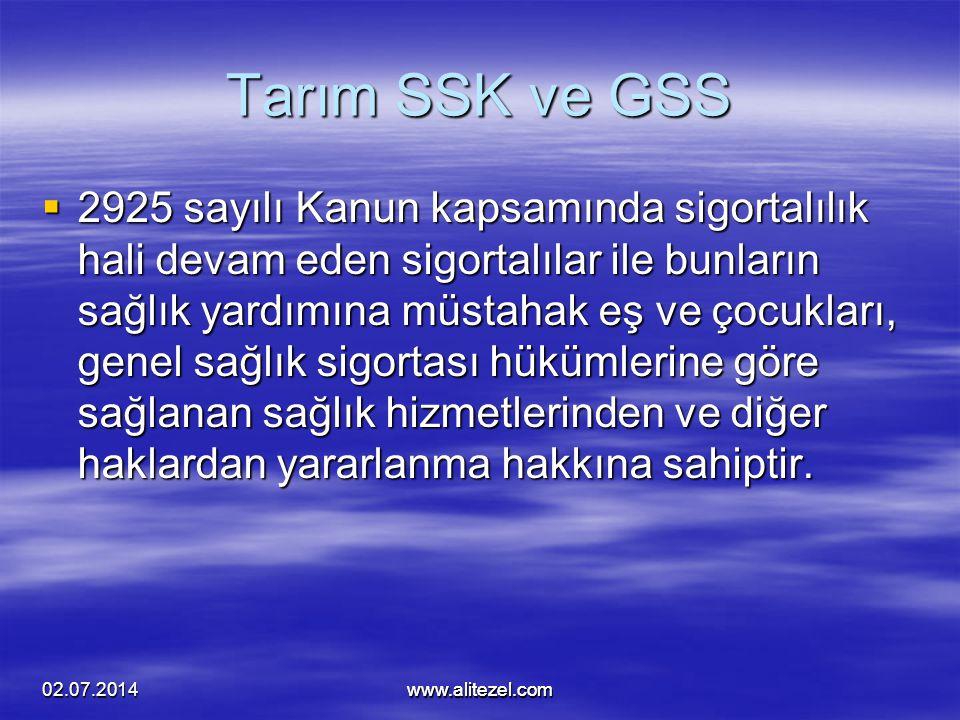 Tarım SSK ve GSS