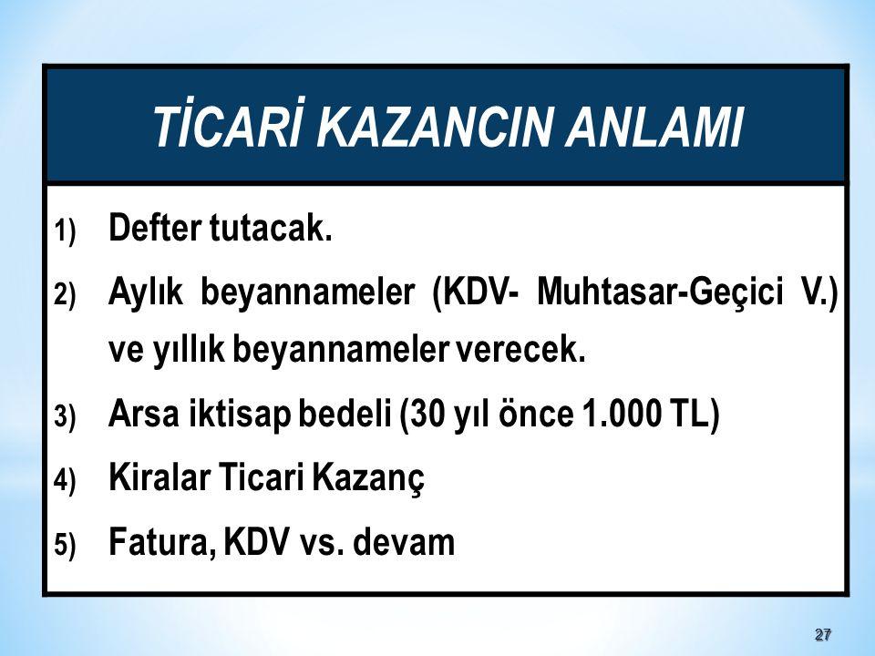 TİCARİ KAZANCIN ANLAMI