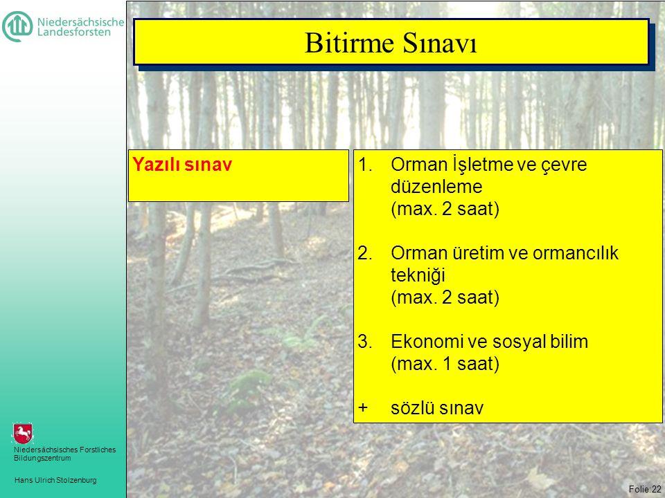 Bitirme Sınavı Yazılı sınav Orman İşletme ve çevre düzenleme