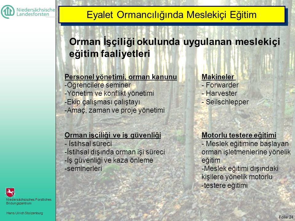 Eyalet Ormancılığında Meslekiçi Eğitim
