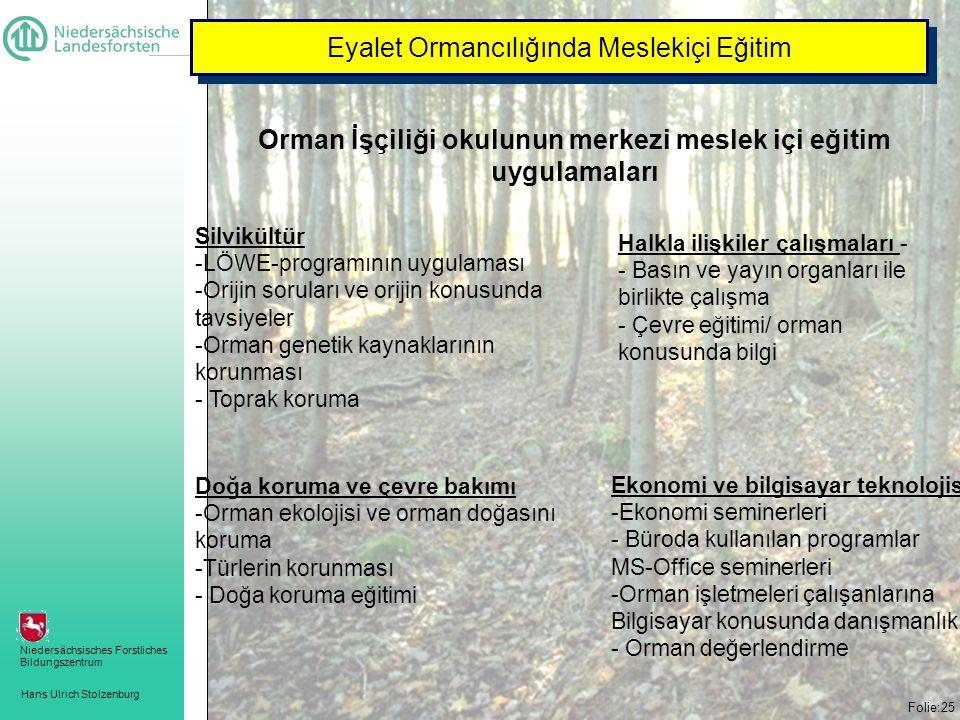 Orman İşçiliği okulunun merkezi meslek içi eğitim uygulamaları