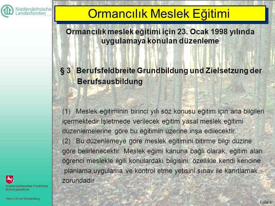 Ormancılık Meslek Eğitimi