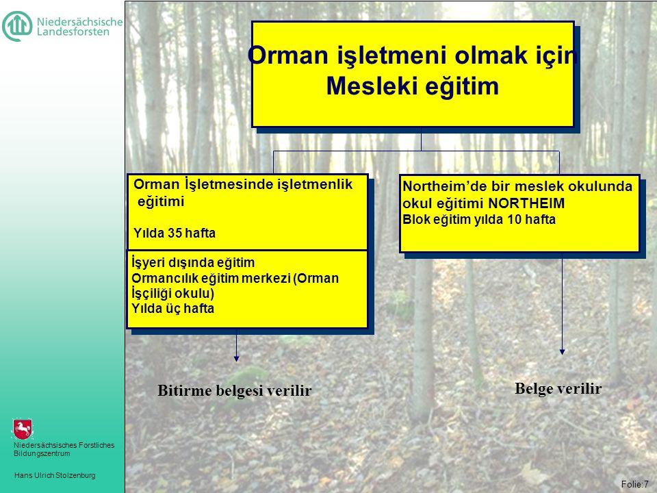 Orman işletmeni olmak için Bitirme belgesi verilir