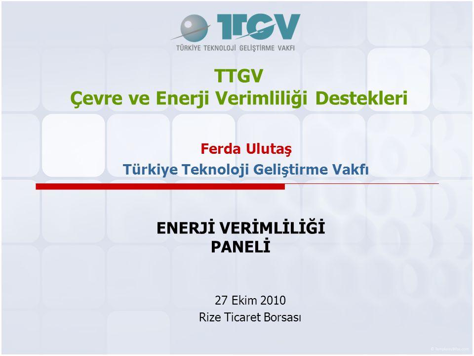TTGV Çevre ve Enerji Verimliliği Destekleri