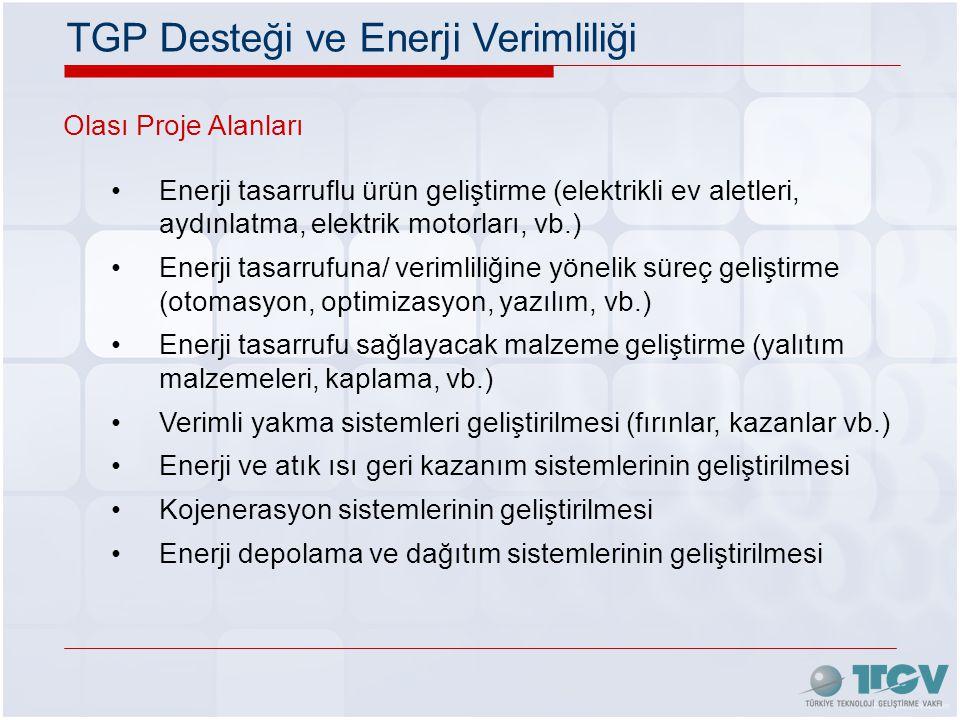 TGP Desteği ve Enerji Verimliliği