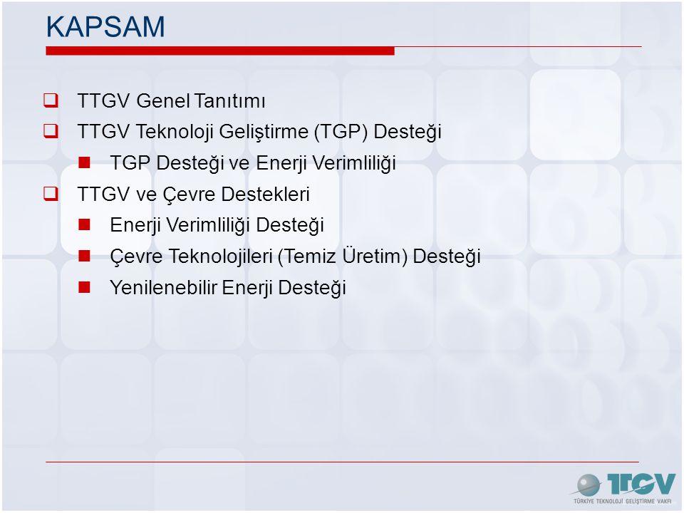 KAPSAM TTGV Genel Tanıtımı TTGV Teknoloji Geliştirme (TGP) Desteği